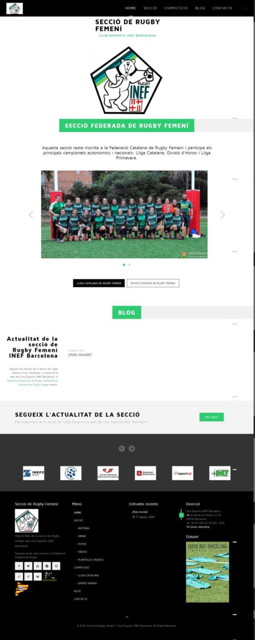 Web de les Seccions del Club Esportiu INEF Barcelona - 2016 4