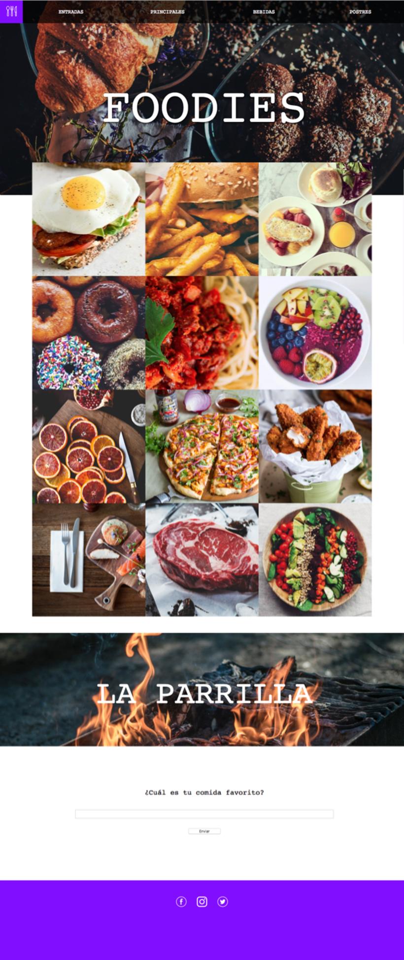 Foodies - Mi Proyecto del curso: Técnicas de Desarrollo Web con HTML5 y CSS3 0
