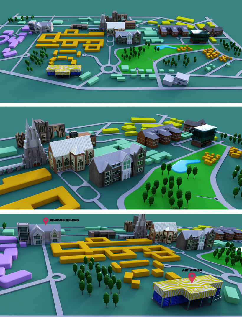 ilustracion de mapa en 3D . 0