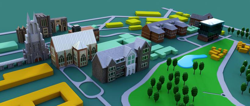 ilustracion de mapa en 3D . 1