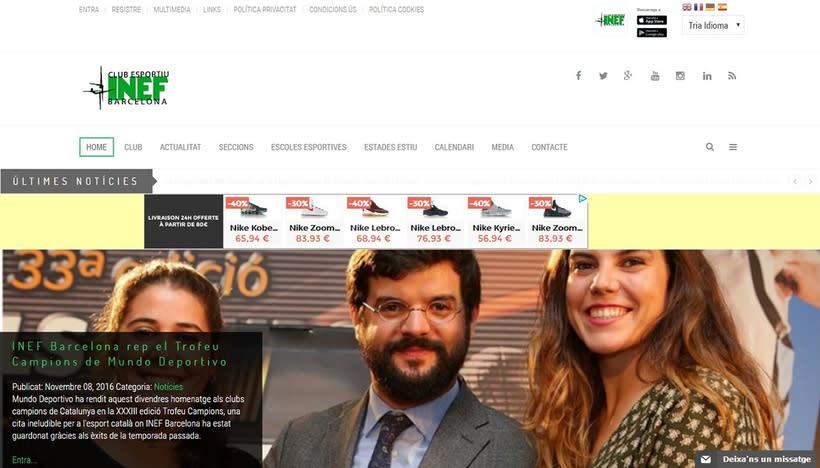 Web Club Esportiu INEF Barcelona 0
