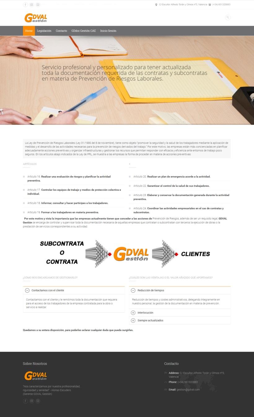 Web GDVal Gestión - 2014 -1