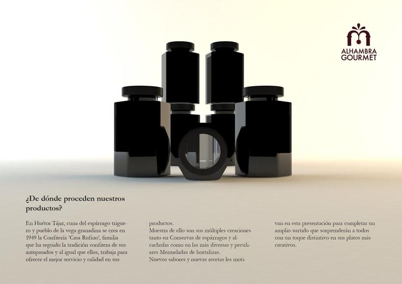 Proyecto Alhambra Gourmet. Imagen corporativa y cartelismo. 1
