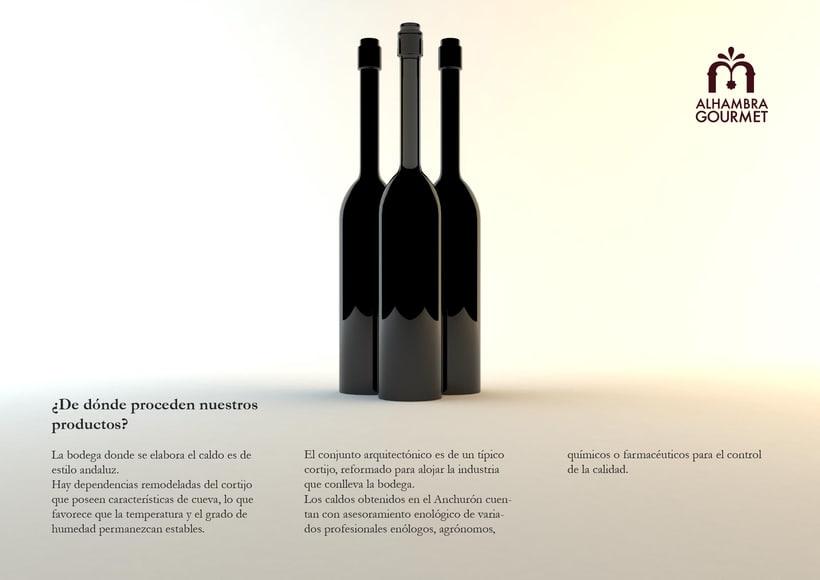 Proyecto Alhambra Gourmet. Imagen corporativa y cartelismo. 2