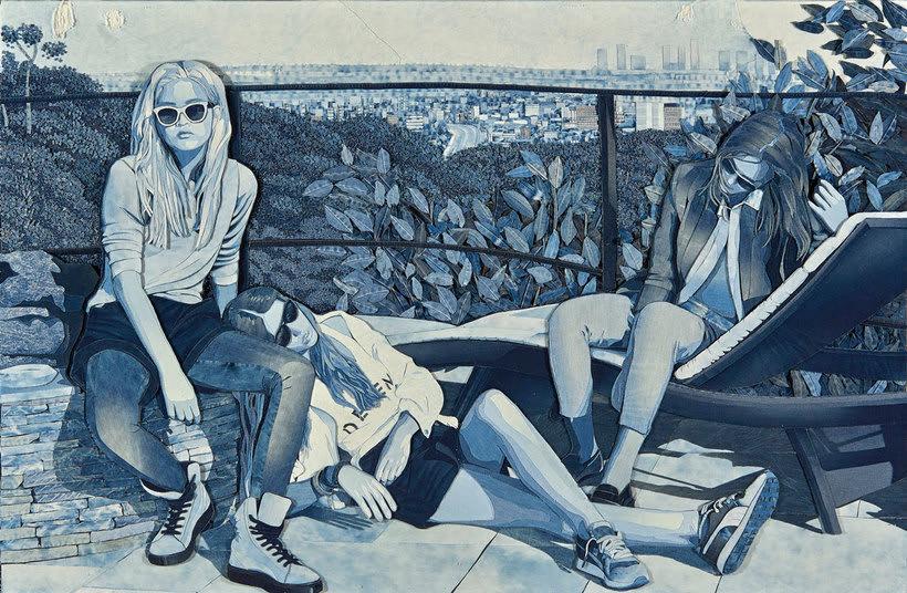 Arte a partir de pedazos de jeans 22