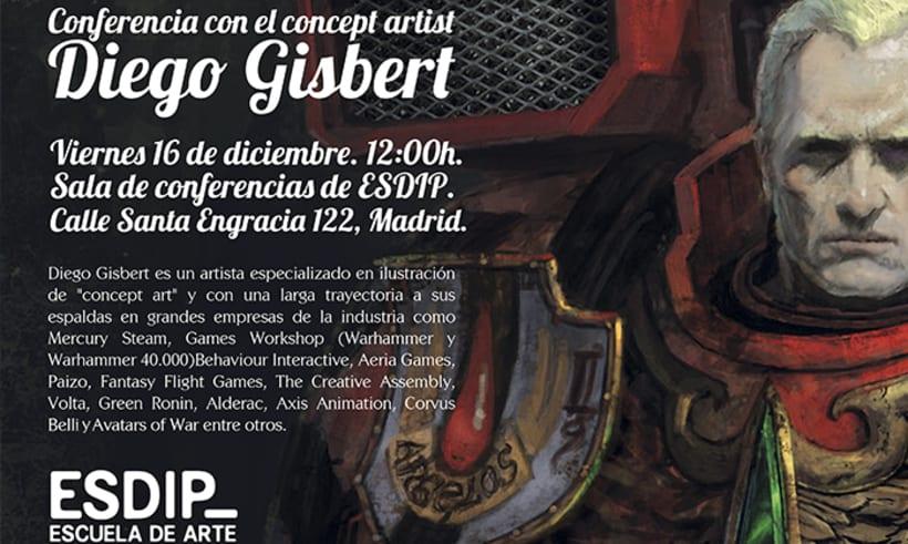 Charla con el concept artist Diego Gisbert 1