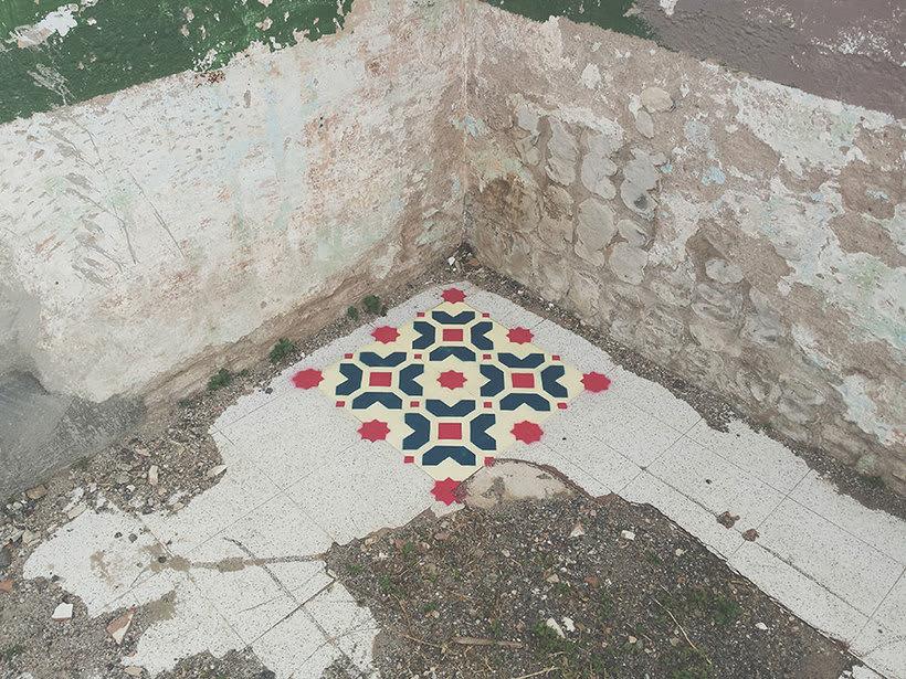 Javier de Riba, un maestro en el arte de pintar suelos hidráulicos 8