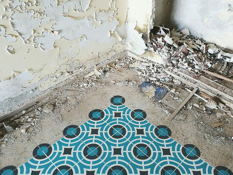 Javier de Riba, un maestro en el arte de pintar suelos hidráulicos 16