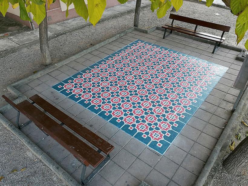 Javier de Riba, un maestro en el arte de pintar suelos hidráulicos 15