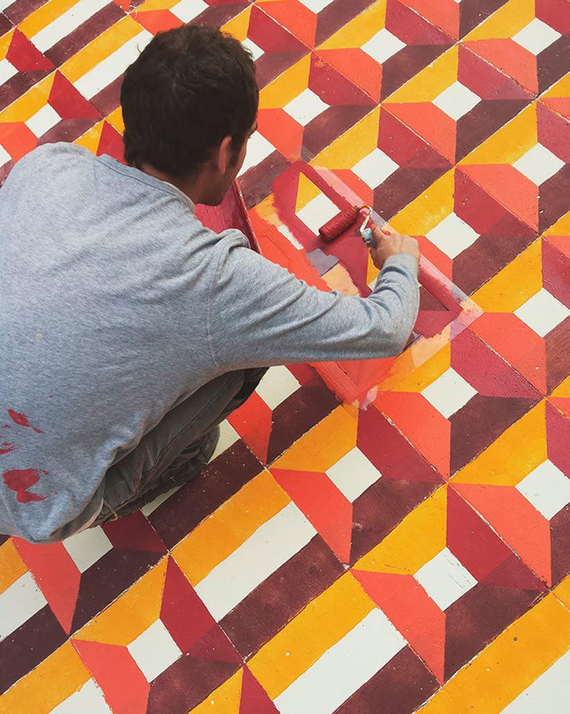 Javier de Riba, un maestro en el arte de pintar suelos hidráulicos 24