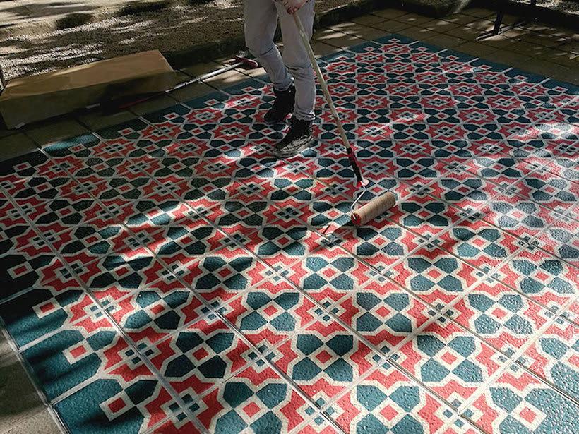 Javier de Riba, un maestro en el arte de pintar suelos hidráulicos 28