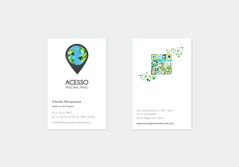 Branding/ Stationery ACESSO Personal Travel 2