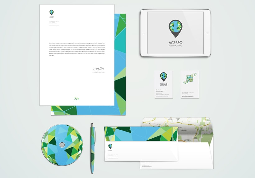 Branding/ Stationery ACESSO Personal Travel 1