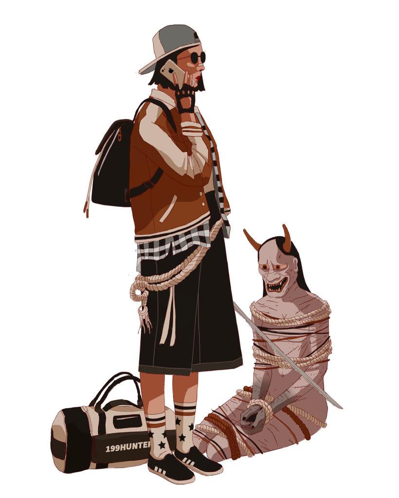 Maridaje argentino-nipón en las ilustraciones de Mau Lencinas 4