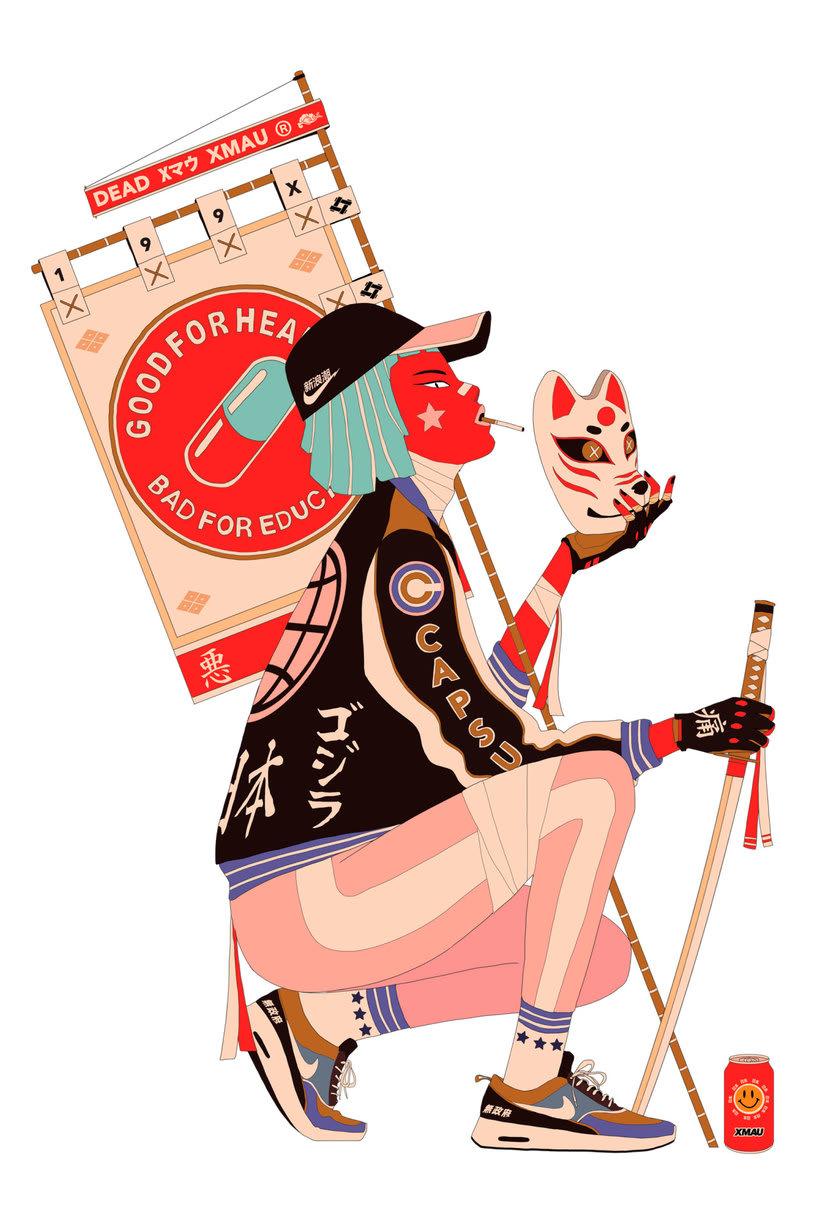 Maridaje argentino-nipón en las ilustraciones de Mau Lencinas 12
