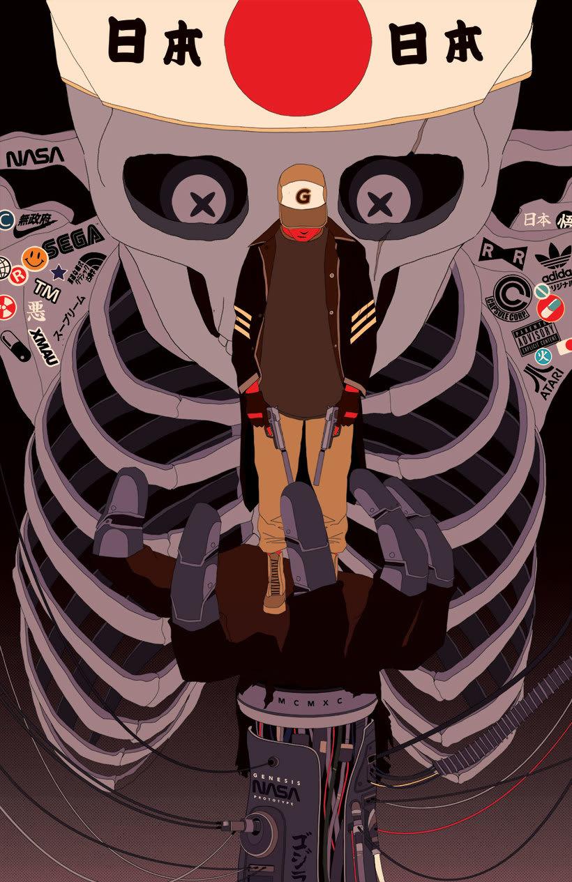 Maridaje argentino-nipón en las ilustraciones de Mau Lencinas 13
