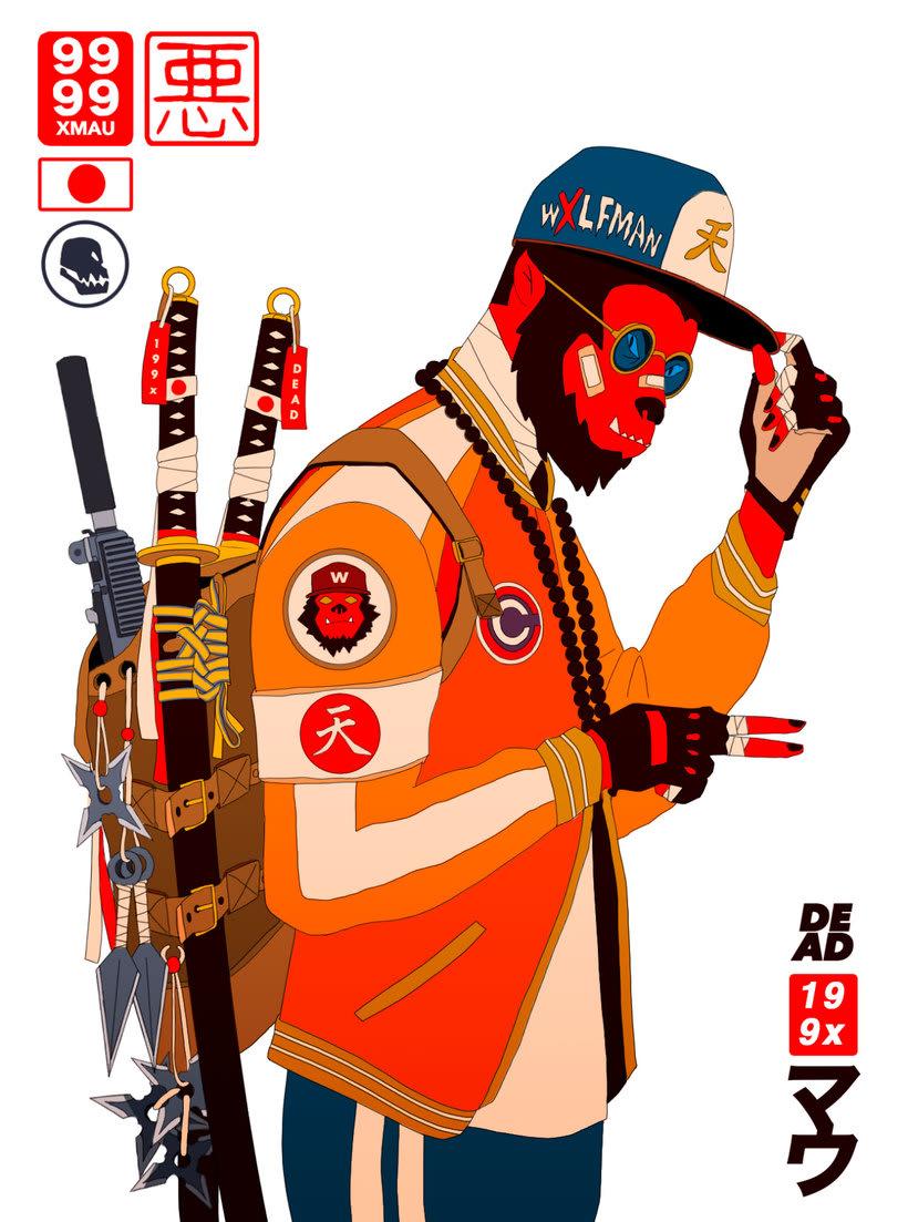 Maridaje argentino-nipón en las ilustraciones de Mau Lencinas 20