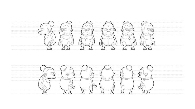 Diseño de personajes - Animación Corto (2015). 1