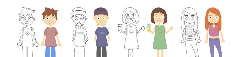 Diseño de personajes - Animación Corto (2015). 6