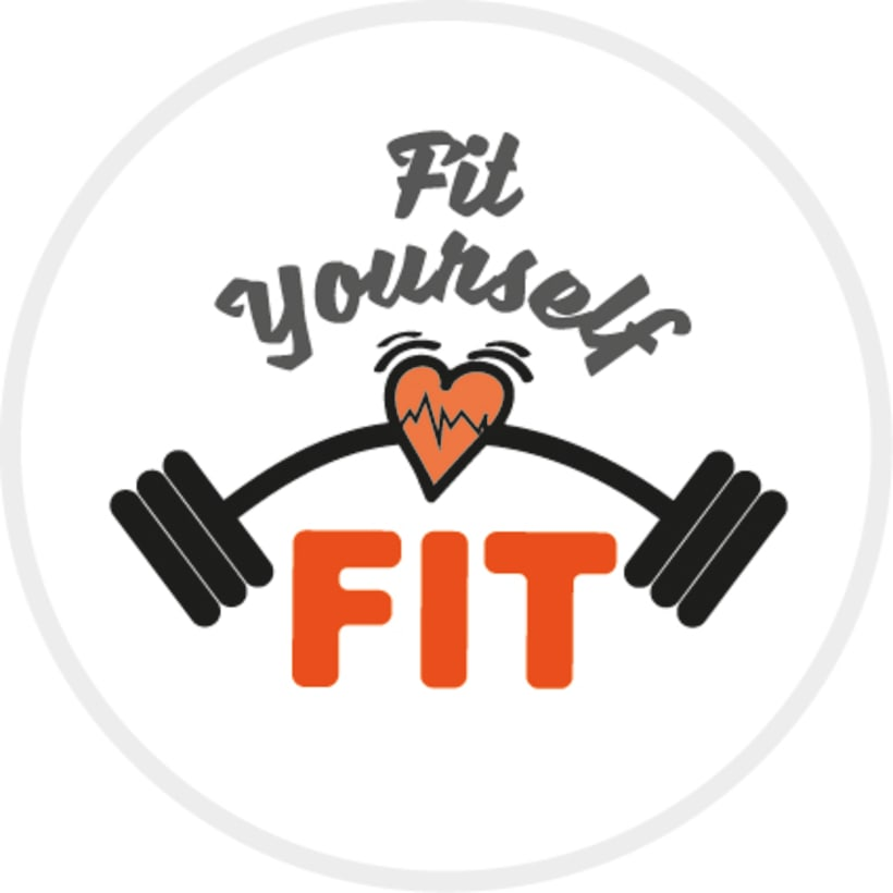 Gym Equipment Logo: Logotipo Gimnasios FIT
