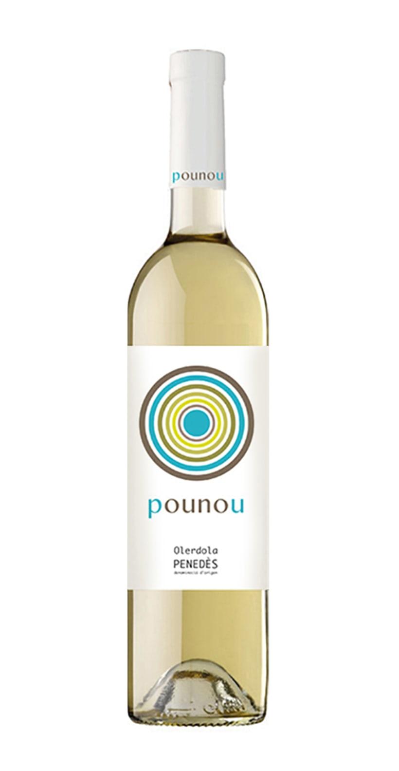 Etiqueta de vino para bodega POU NOU 1