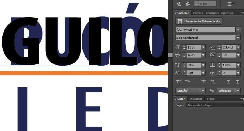 Necesito ayuda con tipografía en Illustrator CC 1