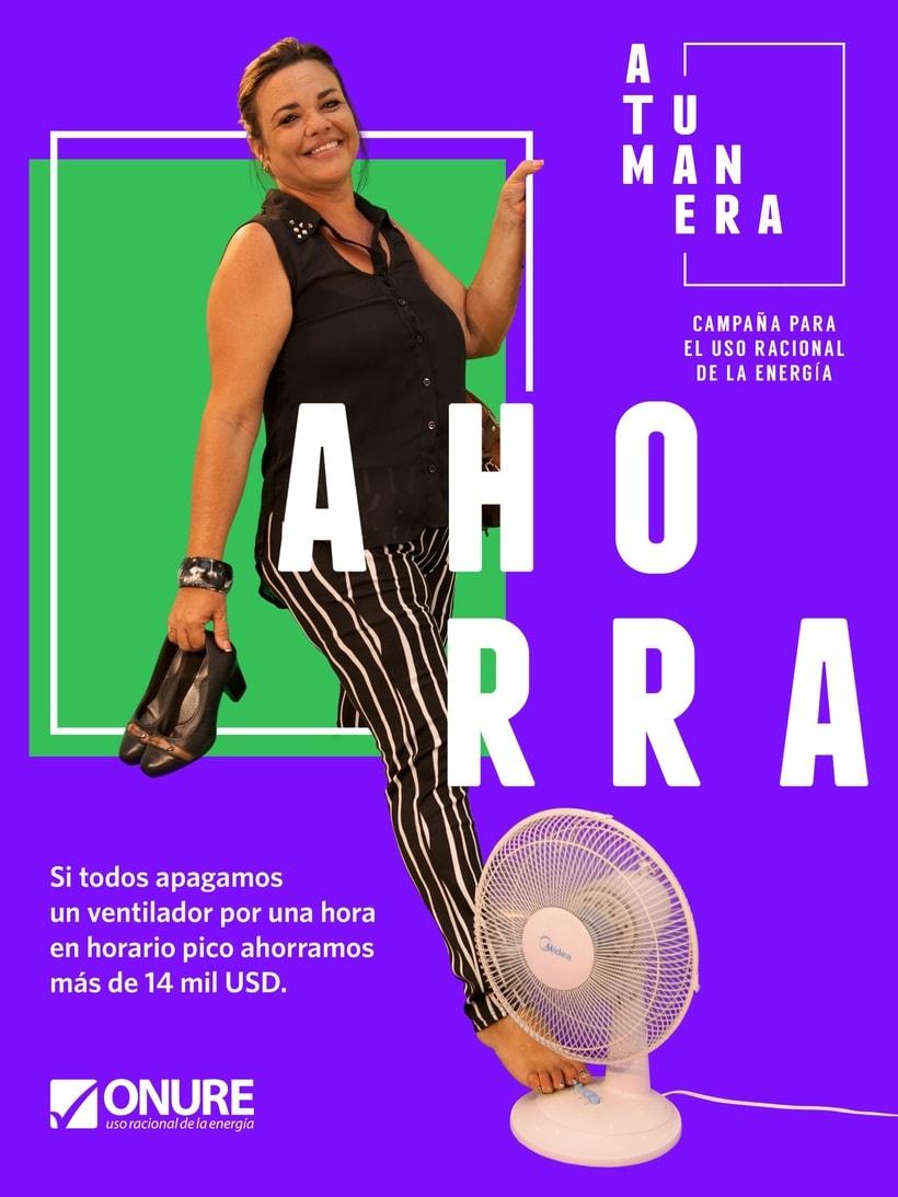 """""""A TU MANERA"""" posters para la Campaña para el Uso Racional de la Energía 0"""