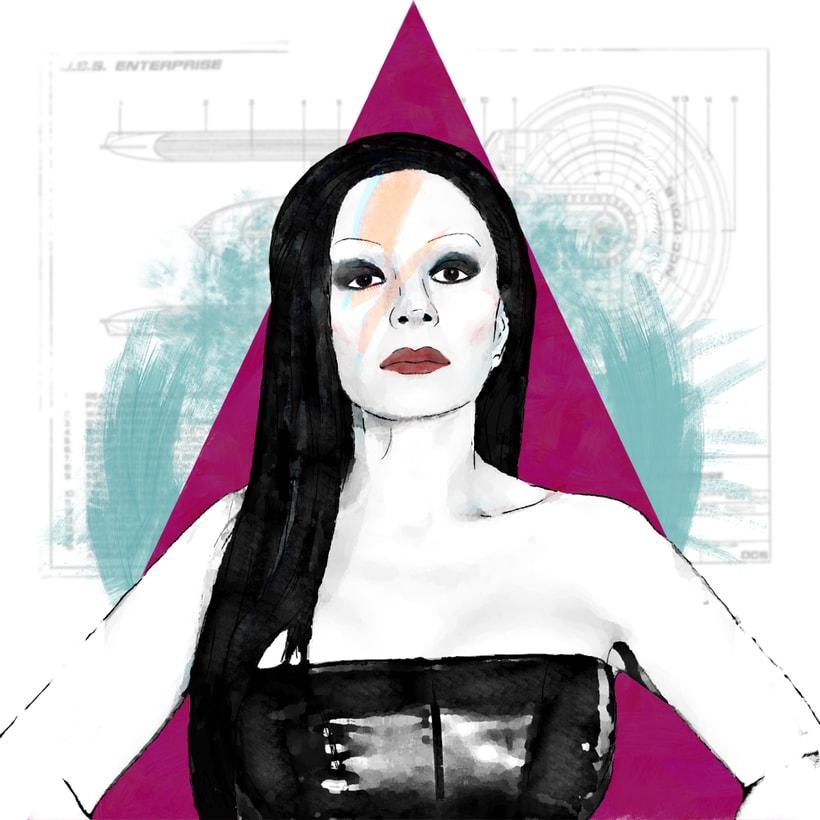 Mi Proyecto del curso: Retrato ilustrado con Photoshop / personaje: Alaska. 0