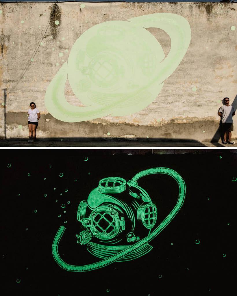Reskate: cuando el arte urbano brilla en la oscuridad 1