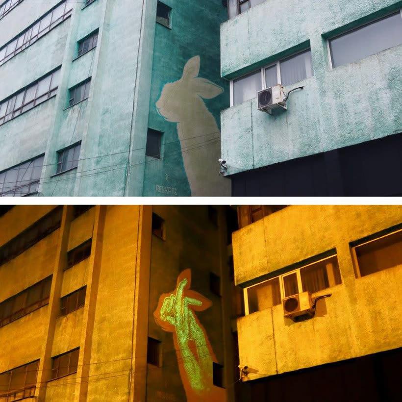 Reskate: cuando el arte urbano brilla en la oscuridad 7