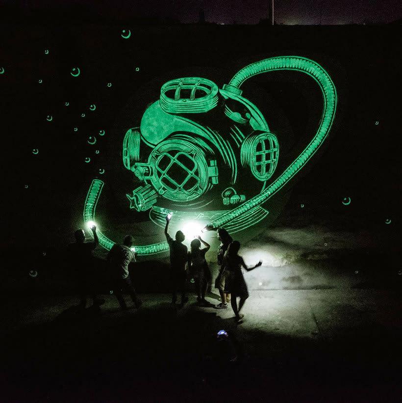 Reskate: cuando el arte urbano brilla en la oscuridad 8