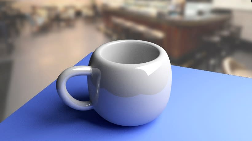 Render Taza 3D en Blender 0