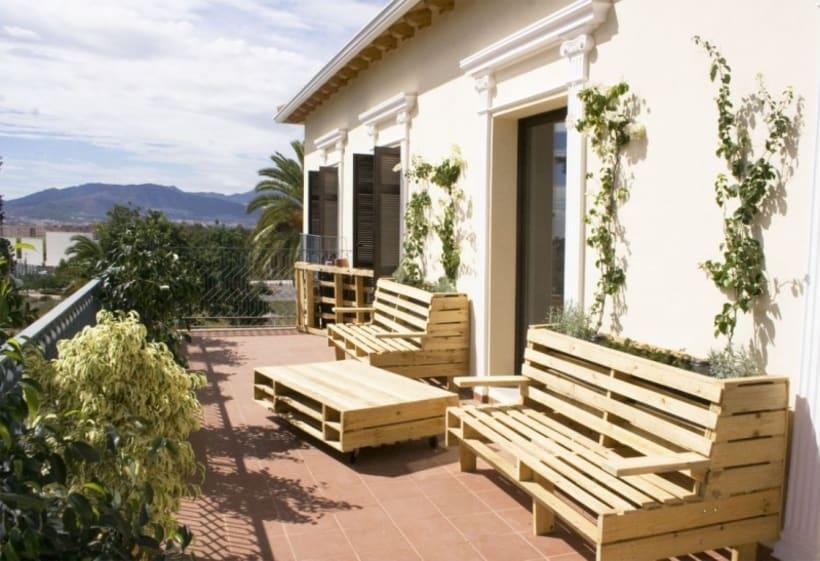 Dise o de banco jardinera jardinera perimetral y mesa - Jardineras de diseno ...