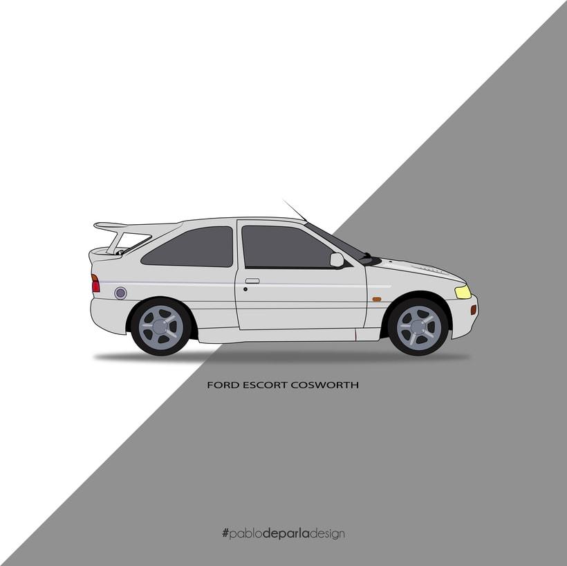 Ford Escort Cosworth vector 0