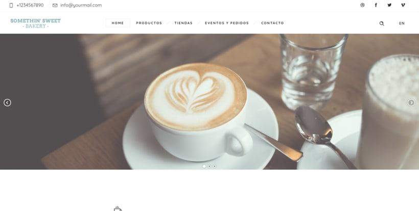 Sitio web dirigido a una cadena de cafeterías 1