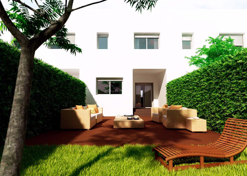Infoarquitectura 3d promoci n inmobiliaria chalet for Promocion inmobiliaria