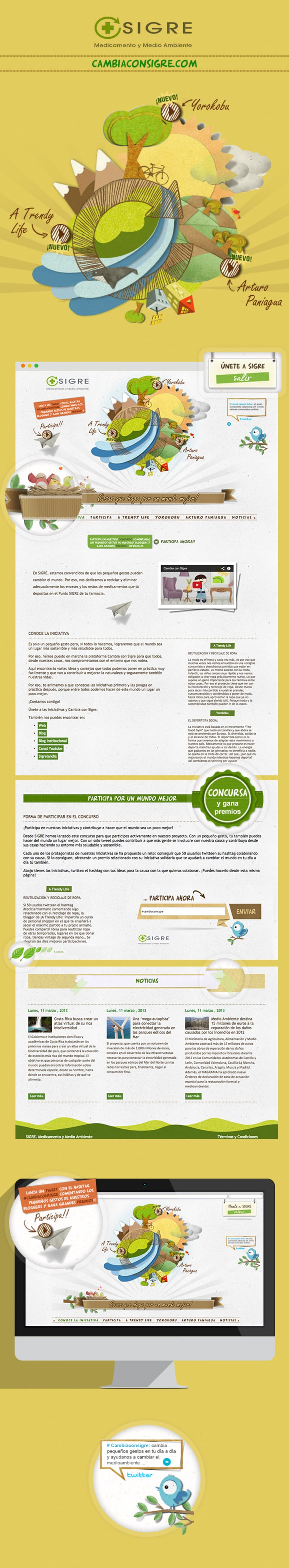 Recycle website design | Cambia con SIGRE  0