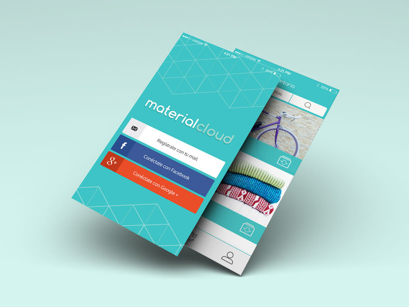 Material Cloud Web & App design 0