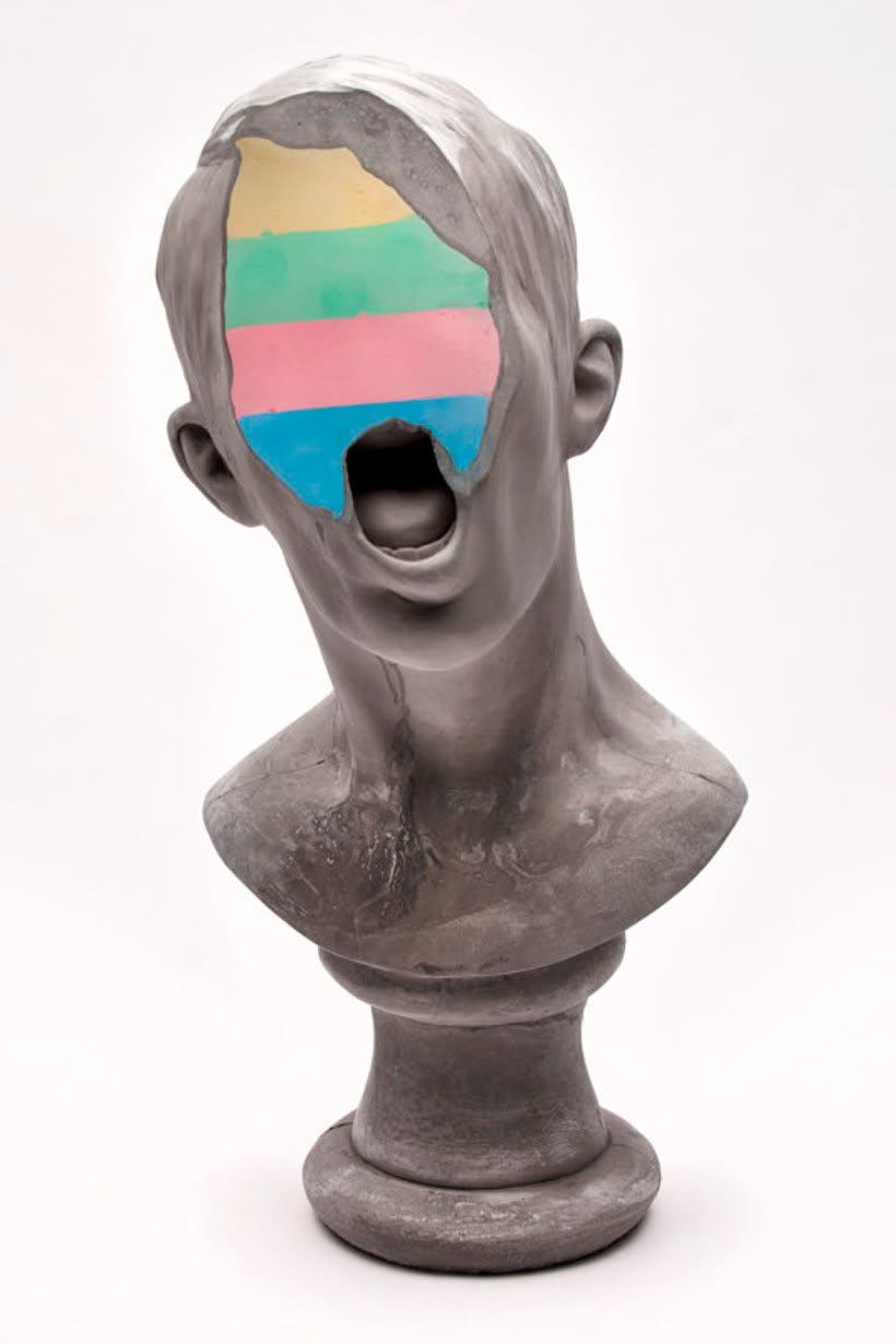 Clasicismo y psicodelia en las esculturas de Christina A. West 7