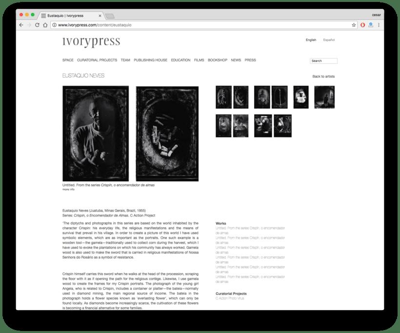 Ivorypress Página web para fundación de arte 1