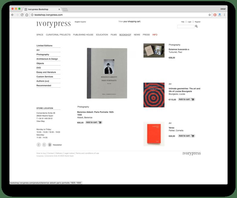 Ivorypress Página web para fundación de arte 3