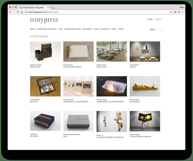 Ivorypress Página web para fundación de arte 5