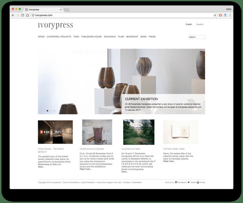 Ivorypress Página web para fundación de arte 0