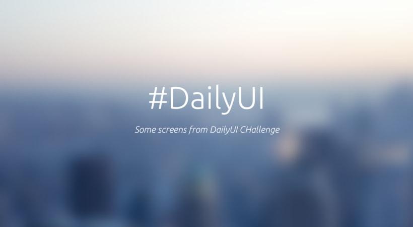 DailyUI Challenge - #DailyUI 0