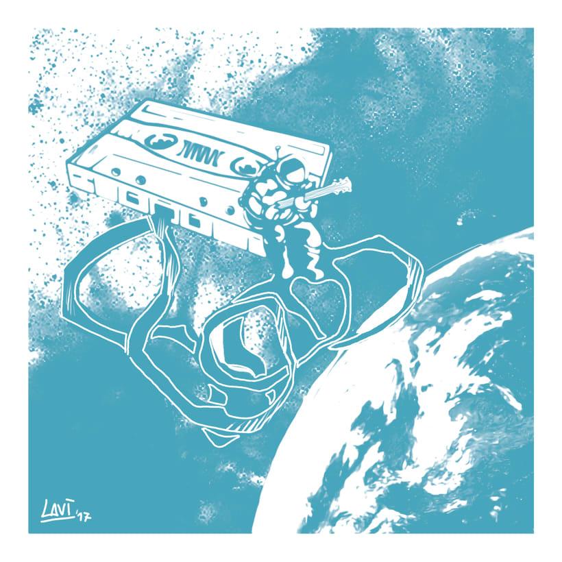Ilustración original de tu puño y tableta; Lady Blue 1