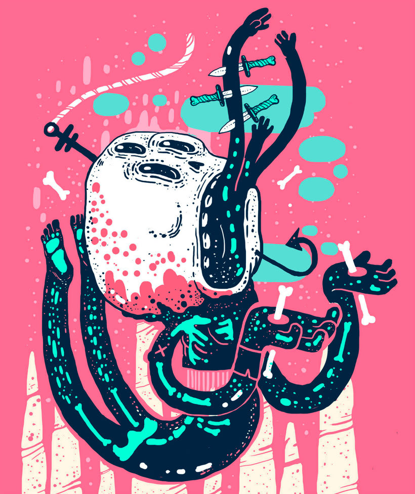 El colombiano Diego Bedoya ilustra inspirado en los 90's  5