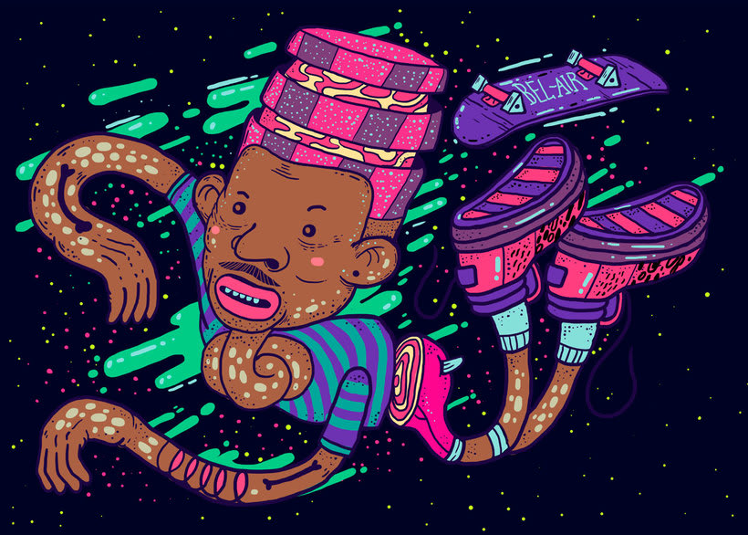 El colombiano Diego Bedoya ilustra inspirado en los 90's  7