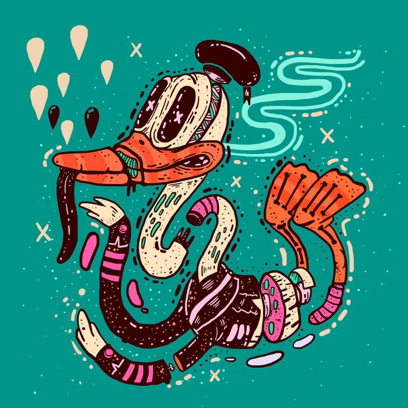El colombiano Diego Bedoya ilustra inspirado en los 90's  8