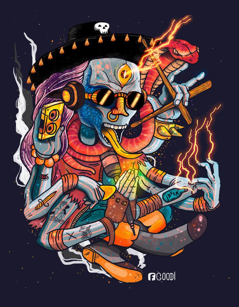 El colombiano Diego Bedoya ilustra inspirado en los 90's  10