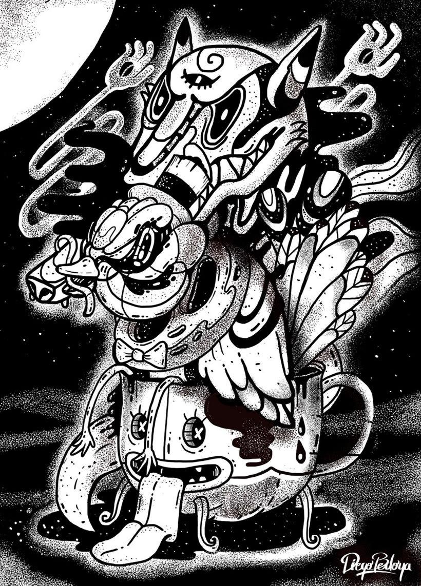 El colombiano Diego Bedoya ilustra inspirado en los 90's  13